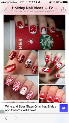 All about red & white - fun DIY Christmas nail art designs Holiday Nail Art, Christmas Nail Designs, Christmas Nail Art, Diy Christmas, Define Christmas, Funny Christmas, White Christmas, Fancy Nails, Love Nails