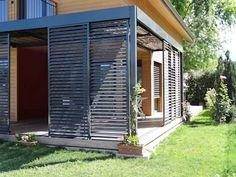 A modern chalet to fall in love with - Haus - Terrasse Garden Design Plans, Modern Garden Design, Modern Design, Outdoor Pergola, Outdoor Spaces, Outdoor Decor, Gazebo, Modern Landscaping, Backyard Landscaping
