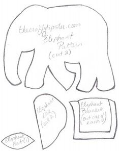 Felt Elephant Pattern – The Crafty Tipster                                                                                                                                                                                 More