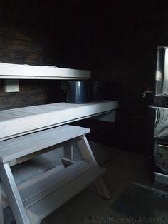 Kopallinen inspiraatiota Ulkosaunan sisustus - Outdoor sauna.