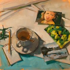Tea and Memories Carol Marine is an artist based in Bastrop, Texas Go and have a look a her video demos which show time lapses of her painting an image from start to finish, truly inspiring. Painting Still Life, Still Life Art, Arte Peculiar, A Level Art, Art Hoe, Renaissance Art, Pretty Art, Aesthetic Art, Art Techniques