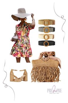 Floral smock dress $21. Great for any occasion, even for work! Paired with belt, block heels, summer floppy hat, and fringe tote bag. Hot Summer Outfits, Fall Booties, Warm Weather Outfits, Weekend Wear, Spring Trends, Smock Dress, Outfit Posts, Summer Looks, Get Dressed