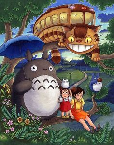 Totoro Art Print - My Neighbor Totoro Illustration by Amanda Lanford Studio Ghibli Art, Studio Ghibli Movies, Totoro Drawing, Zoro Roronoa, Personajes Studio Ghibli, Tottori, Girls Anime, Anime Films, My Neighbor Totoro