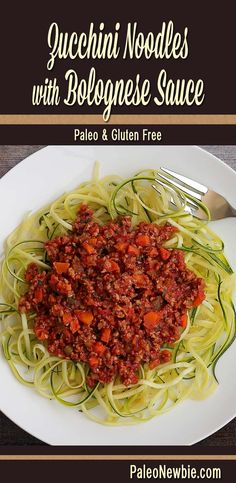 "A beautiful and rich Italian-inspired meat sauce to go with steamed zucchini noodles. Easy recipe for the ultimate ""paleo pasta."" #paleo #glutenfree"