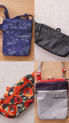 Our shoulder bags and waist packs have convenient compartments to help you store all of your personal items. Perfect for when you are on the go! Travel Must Haves, Waist Pack, New Travel, Packing Tips, Perfect Place, Keys, Eco Friendly, Phones, Essentials