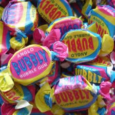 Anglo bubbly bubble gum. Large, hard bubble gums with an acquired taste.