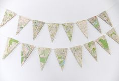 London Map Bunting - eco-friendly bunting #peonyandthistle #folksy