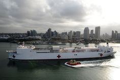 USNS Mercy departs for Pacific Partnership 2012.