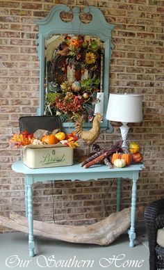 House of Turquoise: Turquoise Fall Decor