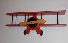 Wooden Airplane Wall Hanger/Curio Shelf
