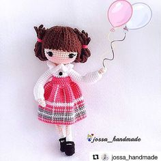 #Repost @jossa_handmade with @repostapp ・・・ Kayla - 凯拉  pattern by @lydiawlc ________________________________________________ Kayla done by participant of my FB crochet activity. Sweet and cute!