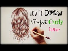 ▶ Drawing Tutorial ❤ How to draw and color Perfect Curly Hair - YouTube