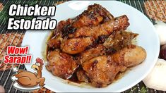 GANITO KADALI GAWING CHICKEN ESTOFADO ANG MANOK! ANG SARAP NITO PROMISE!... Chicken Wings, Chicken Adobo, Filipino Recipes, How To Cook Chicken, Breakfast Recipes, Foods, Dishes, Meat, Cooking