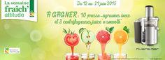 3 Centrifugeuses + 1 presse agrumes Inox à gagner ! - Mes échantillons Gratuits