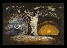 'Earth for Job' (1948) by English printmaker & stained glass artist John Piper (1903-1992). via Martin Beek on flickr