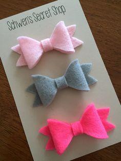 felt bow headbands, baby girl headbands, adorable felt bows!