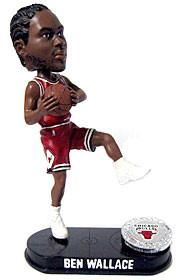 577cc6073ac Chicago Bulls Ben Wallance Forever Collectibles Blatinum Bobblehead