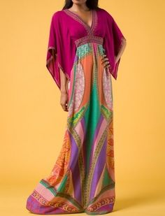 Kimono style Bohemian maxi dress. Just gorgeous!