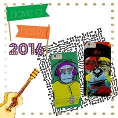 Happy New Year 2016! Monkey phone cases designs.