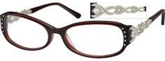 Women's 407247 Full Rim Acetate Frames with Design on Temples | Zenni Optical Glasses-WveZ1yGh