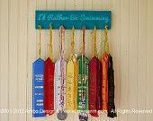 simple display to hang swim team ribbons