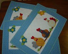 Panos de galinhas da Sônia by Patch Retalhos, via Flickr
