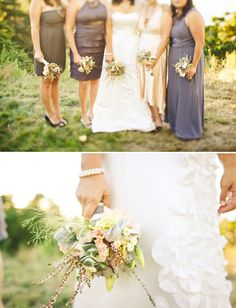 Great floral combinations in these bouquets!    Photo:  Jeff Newsom