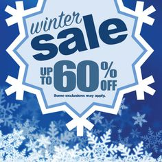 Why pay #retail prices? Shop Gems N' Loans for storewide savings. Up to 60% off during our #winter #sale, some exclusions may apply.