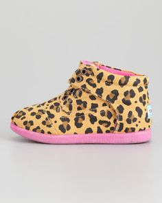 Love these don't have a baby girl but want especially to get these! TOMS Tiny Leopard-Print Canvas Boot