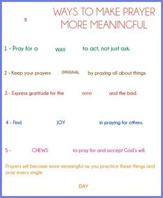 These free printable prayer lesson handouts are the perfect way to help youth and children remember how to make prayer more meaningful. Lds Object Lessons, Bible Lessons For Kids, Prayer Jar, Prayer Book, Scripture Study, Scripture Quotes, Prayers For Children, Children Church, Sunday Prayer