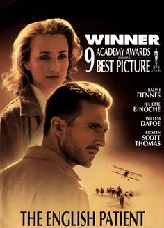 TEP (as known to fans of all-time fave film) The English Patient (1996-11-15 UK, Miramax) starring Ralph Fiennes (as Count Laszlo de Almásy) & Kristen Scott Thomas (Katharine Clifton), Colin Firth, Juliette Binoche (Hana), Naveen Andrews (Kip), Willem Dafoe (Caravaggio) based on 1992 novel by Sri Lankan-Canadian novelist Michael Ondaatje • Wiki: http://en.wikipedia.org/wiki/The_English_Patient_(film)  • IMDB: http://www.imdb.com/title/tt0116209/?ref_=fn_al_tt_1 • Amazon…