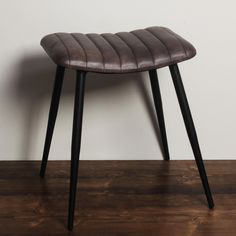 #DiningRoomChairsIkea Real Leather, Black Leather, Black Stool, Leather Stool, Low Stool, Iron, Furniture, Home Decor, Decoration Home