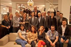 The Design Within Reach group with designers Rich Brilliant Willing at our 2012 ICFF event.