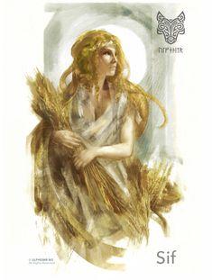 Viking Art — viking-illustrator: ulfeid: art by: ? Norse Goddess, Norse Pagan, Norse Symbols, Thor, Loki, North Mythology, Art Viking, Viking Woman, Dark Souls