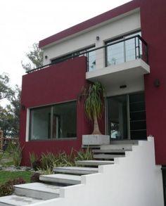 Casas modernas con colores fuertes