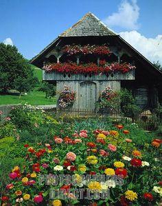 Emmental Valley, Switzerland -- old Speicher (storage house).