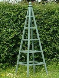 Image result for diy garden obelisk