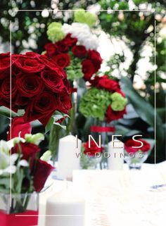 A Classic Red Rose Wedding