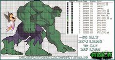 Hulk em ponto cruz: http://dinhapontocruz.blogspot.com.br/2014/05/hulk-ponto-cruz.html