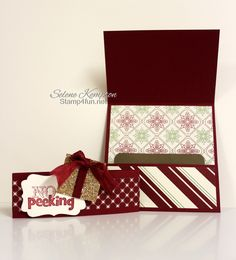 Stamp 4 Fun with Selene Kempton ~ Stampin' Up! Independent Demonstrator: 11/28 Stampin Up! No Peeking Gift Card Holder 25 Days of Christmas Day 22