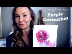 Purple carnation, puppy and blue jay demo, watercolor tip, parcel