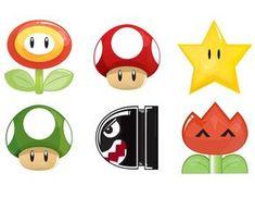 Ilustração de personagens do Game do Super Mário