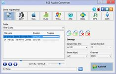 Rogai Info software - Details for FSS Audio Converter Free Mp3 Converter, Software, Audio, Apps, Ipod Touch, Videos, Iphone, Key, Mp3 Player