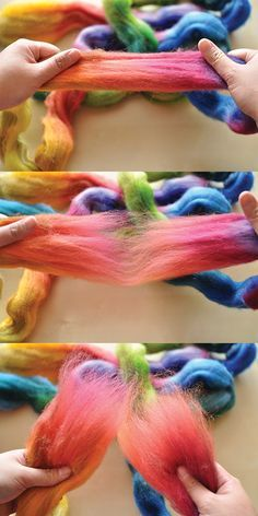 Working with Wool Roving, Preparing Fiber for Spinning