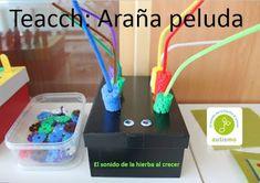 Autismus Arbeitsmaterial: TEACCH: Spinnen-Motorik-Kiste