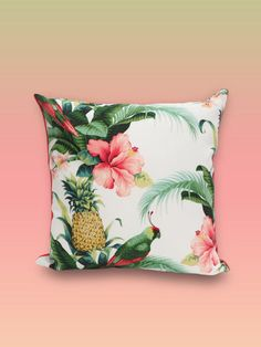 Pillow cover. Outdoor pillow for porch or indoor sunroom.