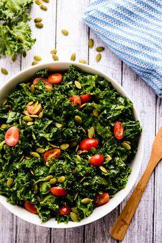 Enlightening Marinated Kale Salad | Blissful Basil