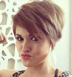 Hairstyles Step By Step 20 Charming Short Hair Color Ideas - NiceStyles.Hairstyles Step By Step 20 Charming Short Hair Color Ideas - NiceStyles Short Pixie Haircuts, Pixie Hairstyles, Short Hair Cuts, Pixie Cuts, Teenage Hairstyles, Longer Pixie Haircut, Fashion Hairstyles, Hairstyles 2018, Undercut Hairstyles
