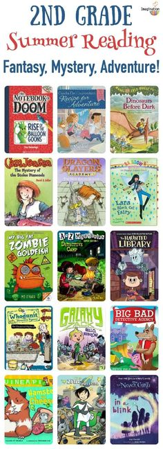 Second grade summer reading book list (ages 7 - 8)