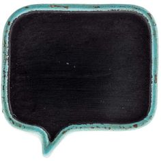 Blue Resin Quote Bubble Chalkboard Knob